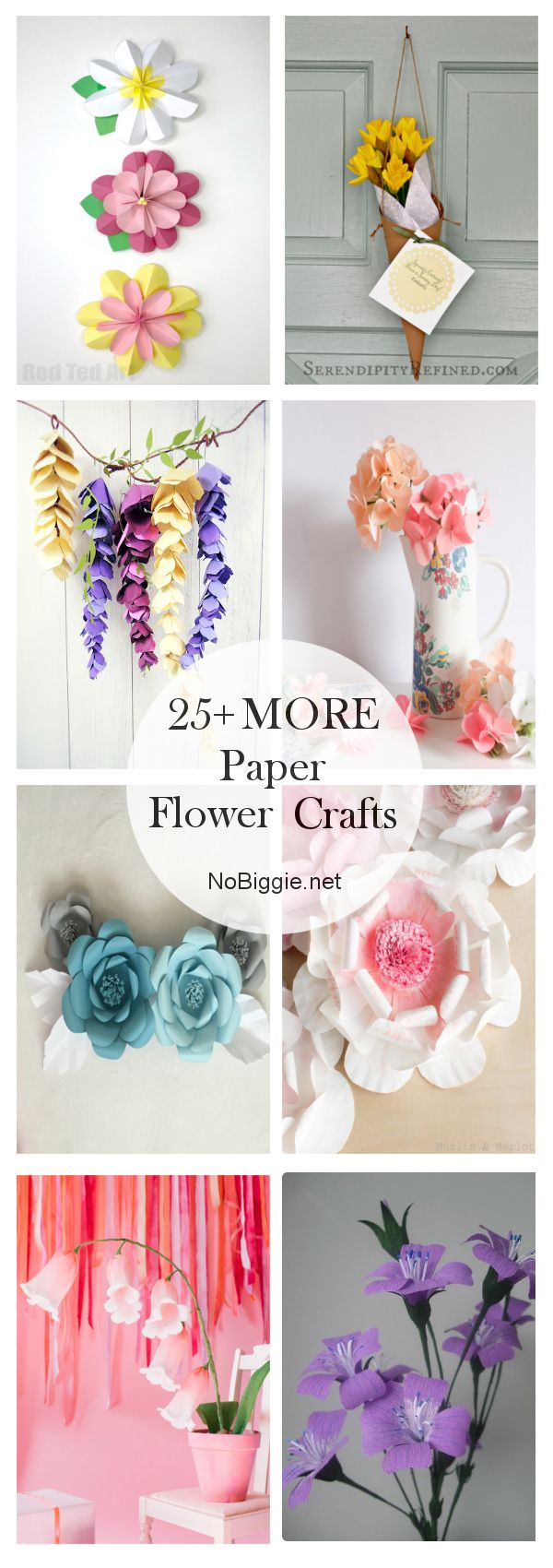 25+ MORE Paper Flowers #constructionpaperflowers