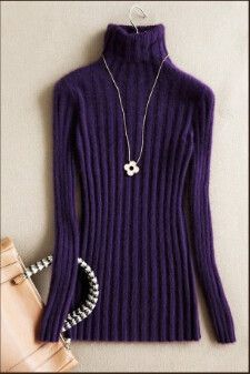 Buy good quality Mink Cashmere Sweaters turtleneck Long section ...