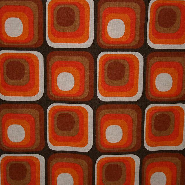 1970's Dekoplus Vintage Fabric Retro fabric, Fabric