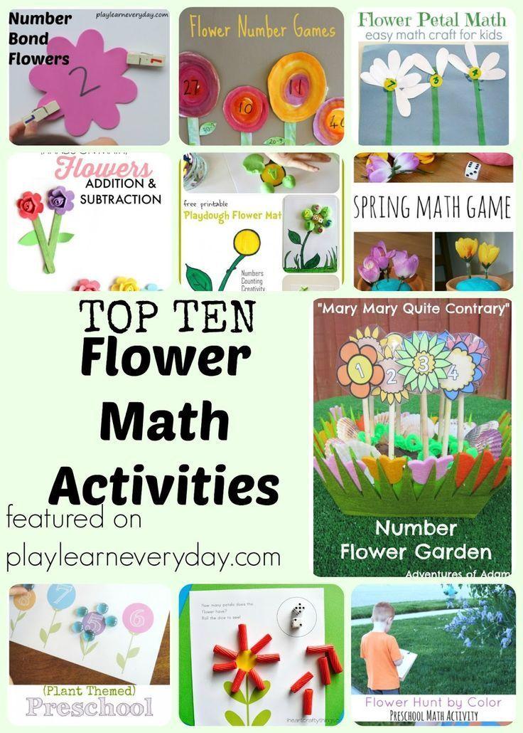 Top Ten Flower Math Activities | Math skills, Math and Math activities