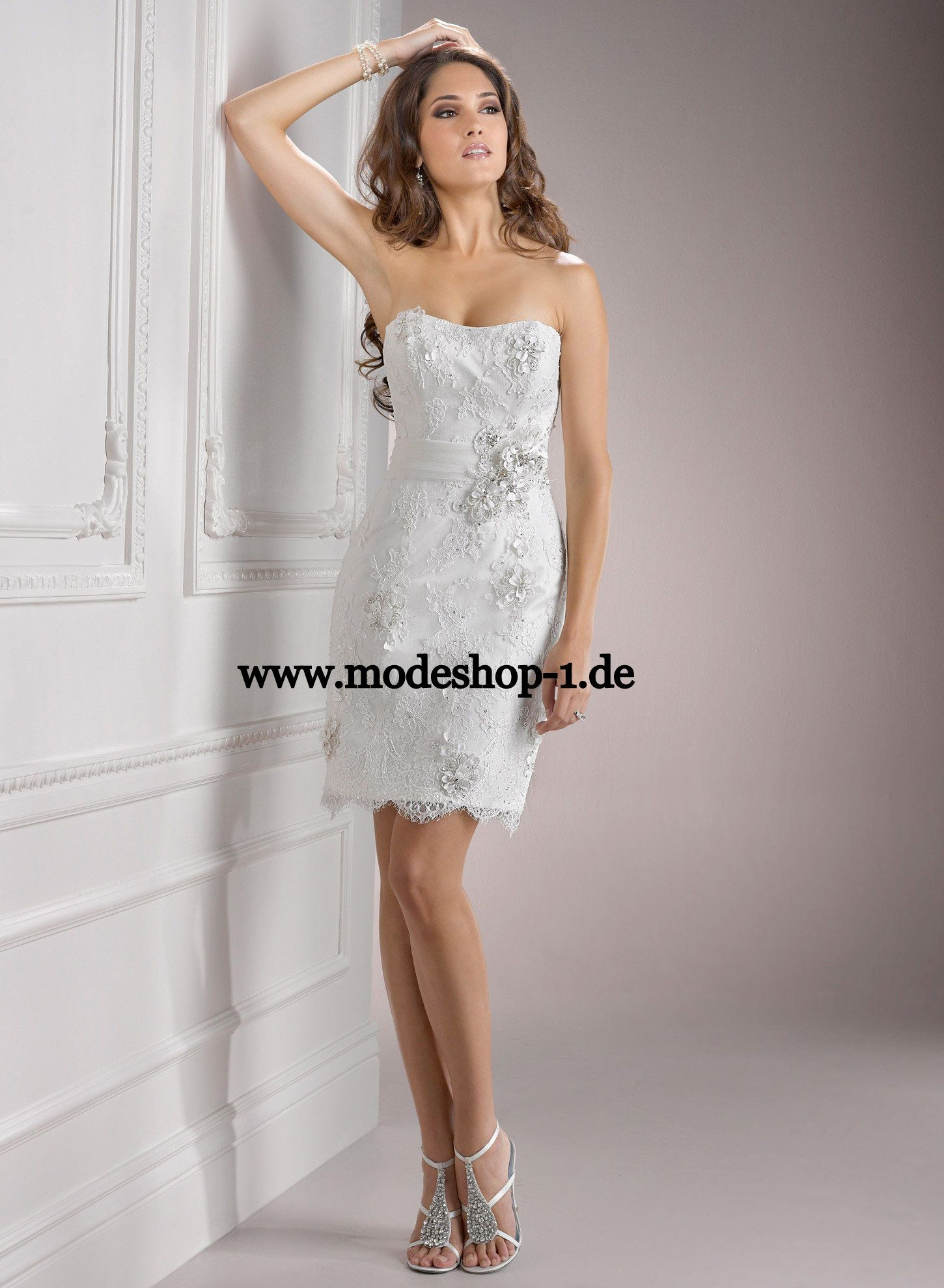 Braut Mode Brautkleid Kurz Sokotra www.modeshop-1.de | BRIDAL ...
