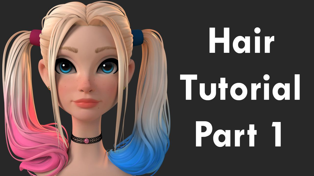 ArtStation Hair Tutorial Part 1 Danny Mac 3D Pinterest