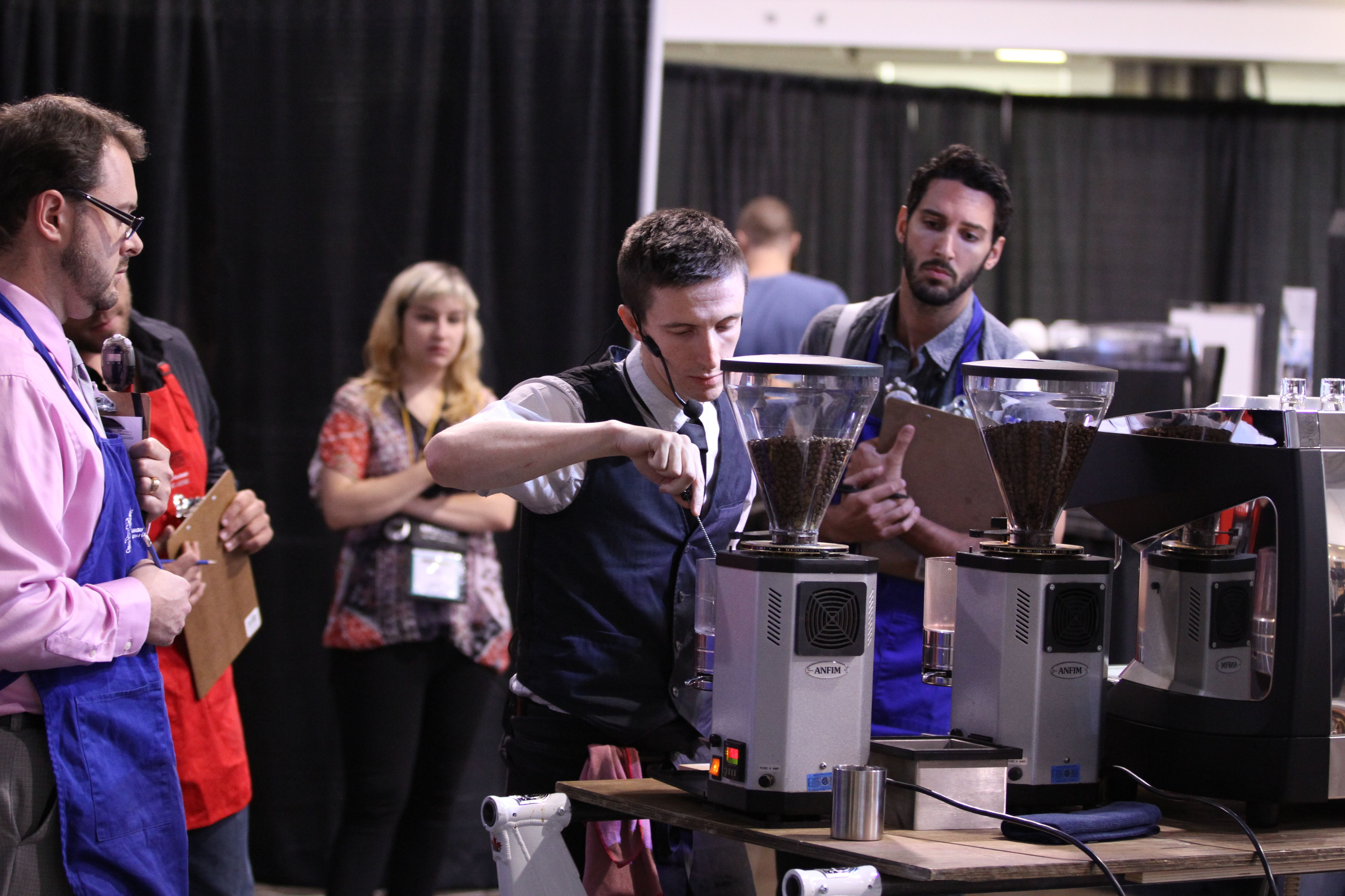 Competing for the title... - Canadian Coffee & Tea Show Toronto 2012