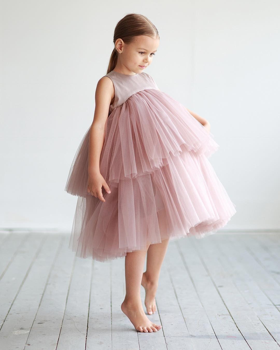 c11b35b5b15 Ярусное платье из фатина пыльного оттенка ❤ • Состав  50% хлопок ...