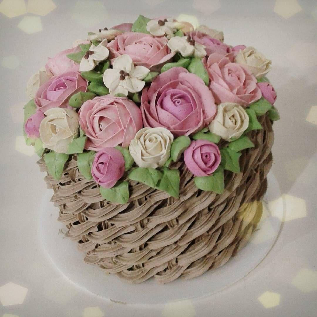 Cool Basket Weave Cake With Images Flower Cake Cake Basket