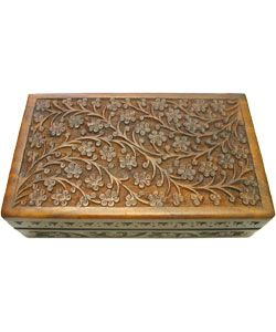 @Overstock - Store your personal items in elegant style in this rosewood carved jewelry box by Indian artisan Muhammad Nadim. Hand-crafted from rosewood and featuring an intricate design, this beautiful box is perfect for storage or for simple display.http://www.overstock.com/Worldstock-Fair-Trade/Rosewood-Hand-Carved-Box-India/1149722/product.html?CID=214117 $30.49