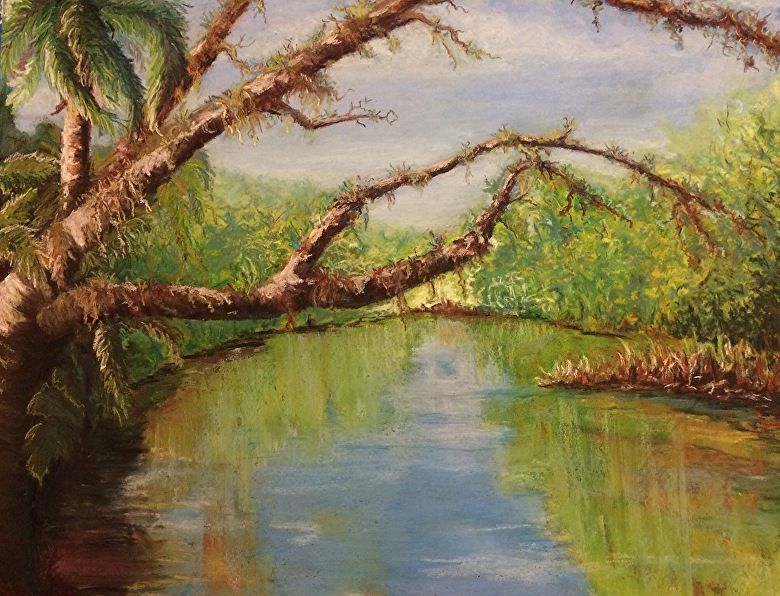 """Backwater Arch by Tammy Cox Pastel ~ 16"""" x 20"""""""