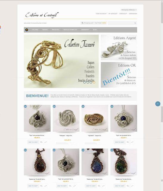 La Nouvelle Boutique EnVerre et Contrefil est enfin en ligne!