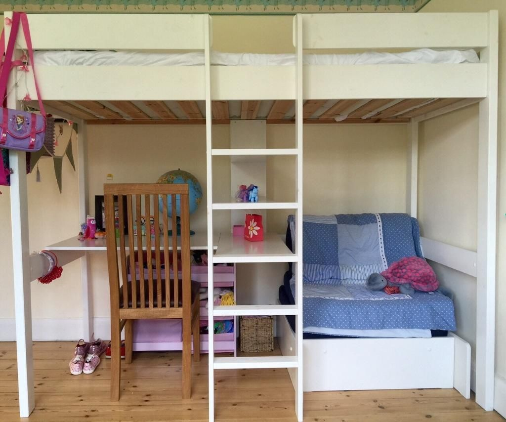 White Bunk Bed with Desk Underneath organizing Ideas for