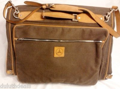 Mercedes Benz Executive Canvas Amp Leather Travel Bag
