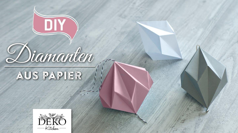 Ez DIY: Hübsche Papier-Diamanten Selber Machen [How To