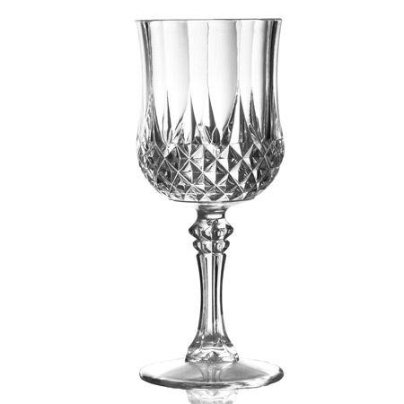 8 Oz Crystal Cut Wine Glasses Vintage Old Fashioned Wine Goblets 6 Piece Set