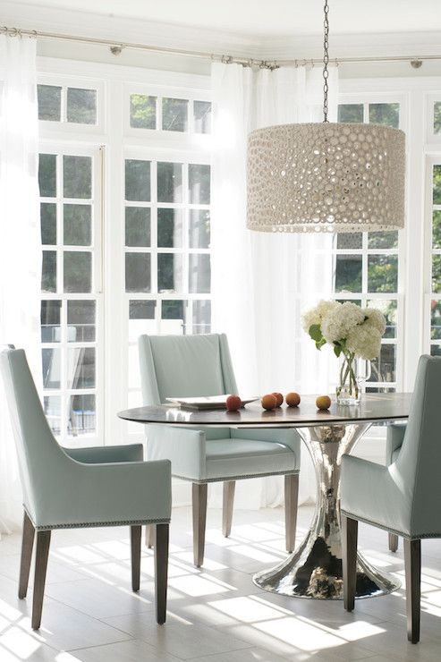 heather garrett design dining rooms meri drum chandelier sunroom sunroom dining room - Sunroom Dining Room