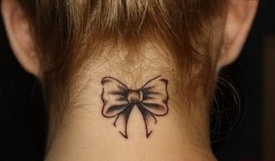 tatoo bow. Super cute! ~ Jackie