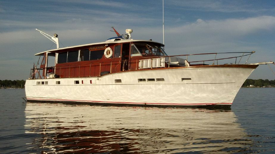 1957 chris craft salon motor yacht model power boat for for Vintage motor yachts for sale