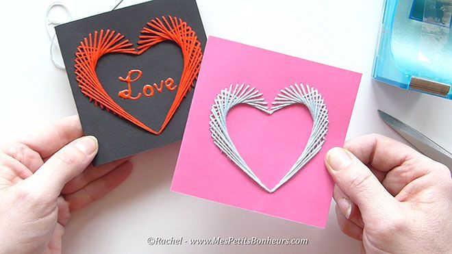 Carte coeur brod e pour saint valentin ou f te des meres image fixe020 les - Faire un coeur en papier ...