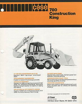 Case  Construction King Digger Sales Brochure