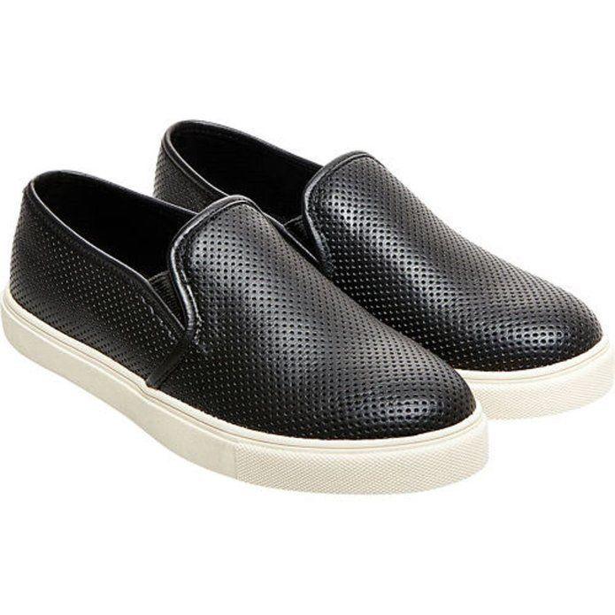 Steve Madden Women's Evrest Black Perforated Slip-On Shoe