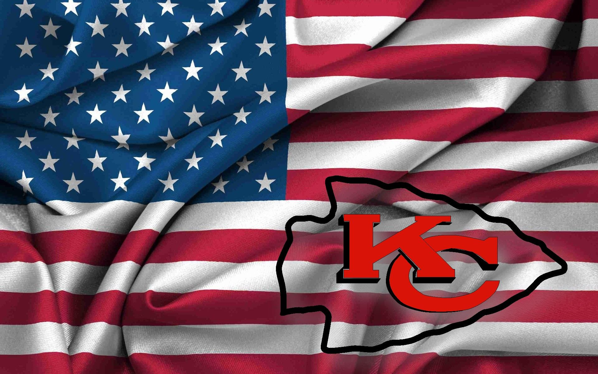 Kc Chiefs Wallpaper Images Of Kansas City Chiefs Logo On Usa Flag Wavy Canvas 1920x1200 Kansas City Chiefs Logo Kc Chiefs Football Kansas City Chiefs