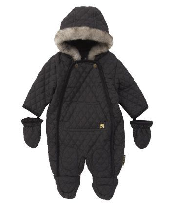 Baby K Quilted Black Snowsuit | Snow or down suit | Pinterest ... : quilted snowsuit for baby - Adamdwight.com