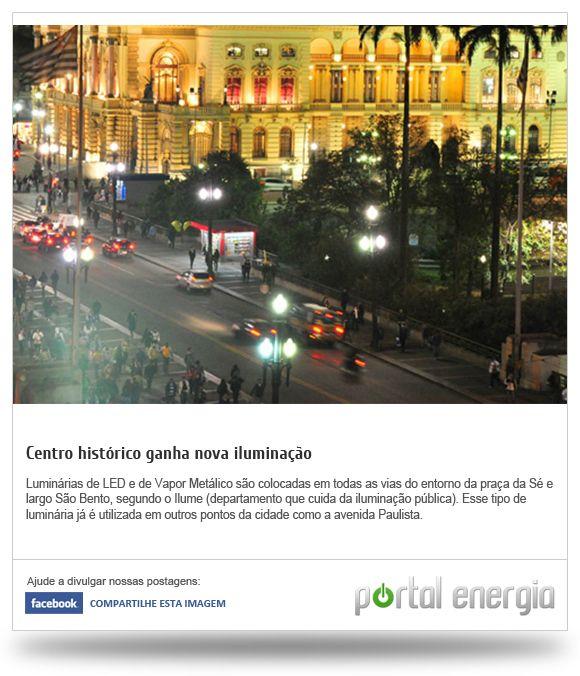 Centro histórico ganha nova iluminação