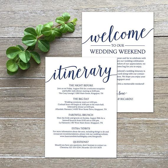 Navy Welcome Wedding Itinerary Template By Mycrayons Design  Europe