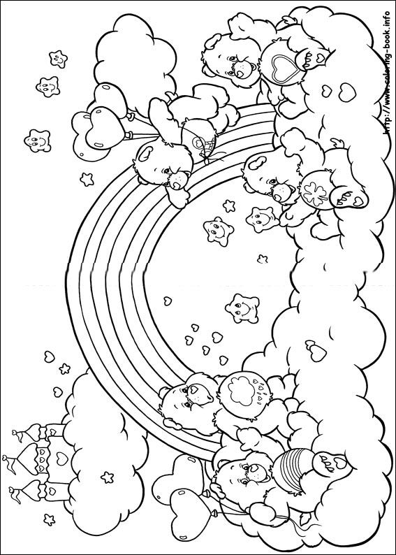 The Care Bears coloring picture embroidery and needlepoint