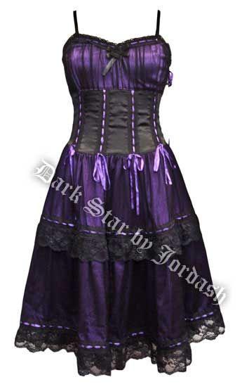 Dark Star Purple Black Satin Lace Burlesque Dress. Where was this ...