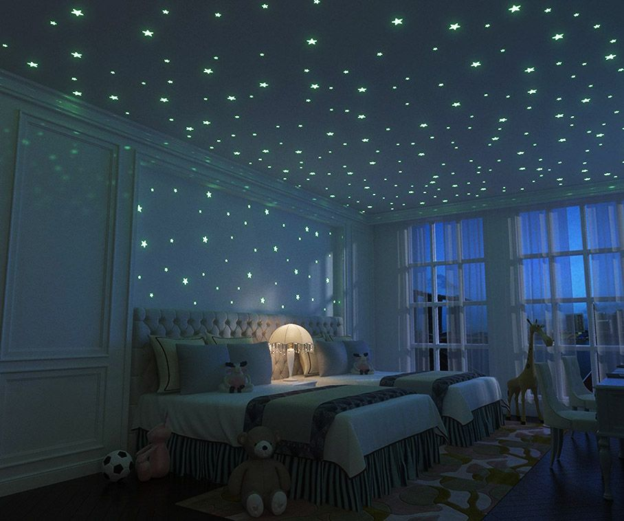 Glow In The Dark Stars Dorm Room Decoration Dark Ceiling Star Bedroom Glow Stars