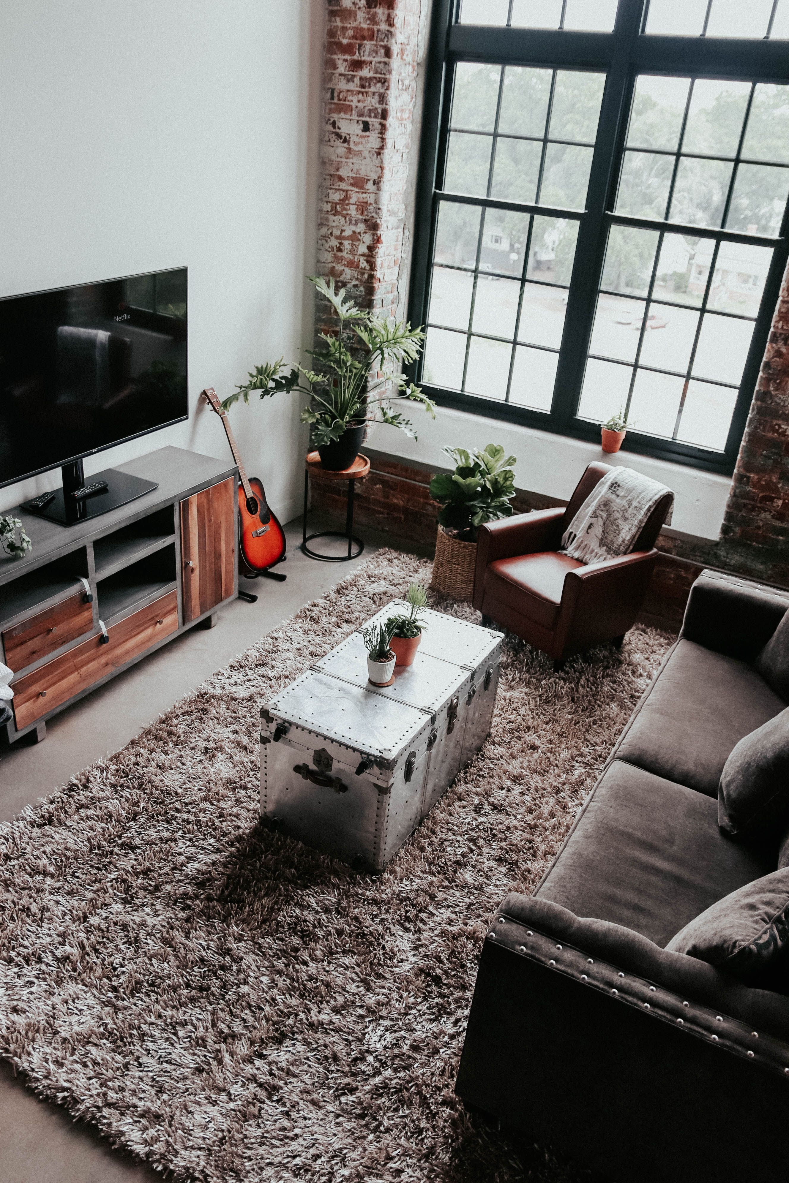 Modern Rustic Industrial Loft Apartment Industrial Apartment Decor Loft Decor Home Decor