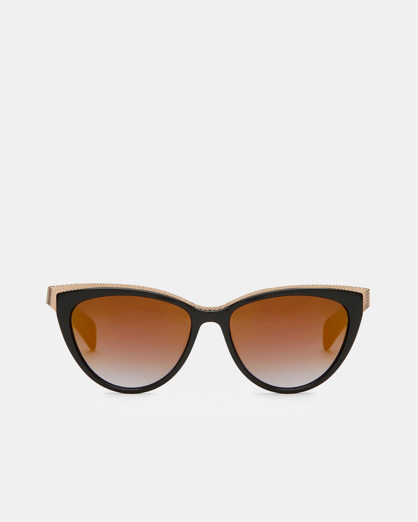 3c0877b181e0 Ted Baker Metallic detail cat-eye sunglasses Black