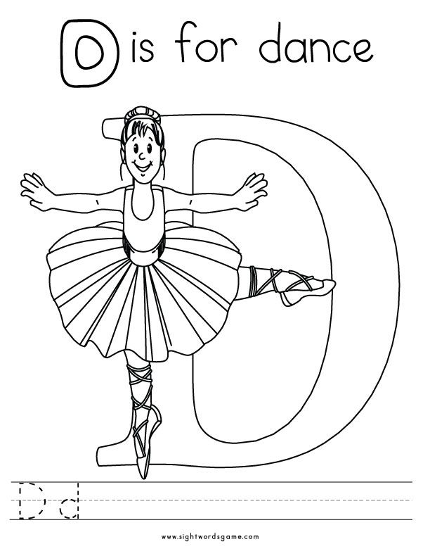 Letter D Coloring Page 3