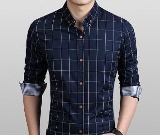 Mens Long Sleeve Checkered Shirt #mensfashion