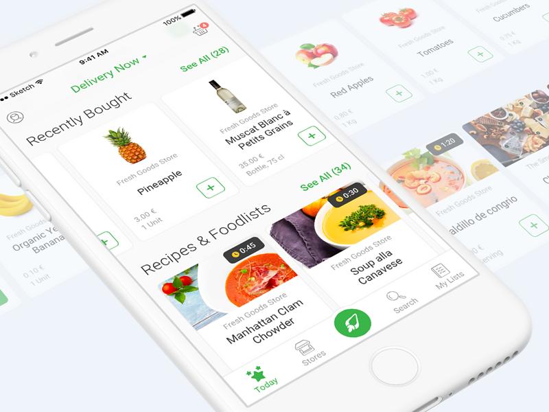 Food Deliver iOS App Design   Ios app design, App design and iOS App