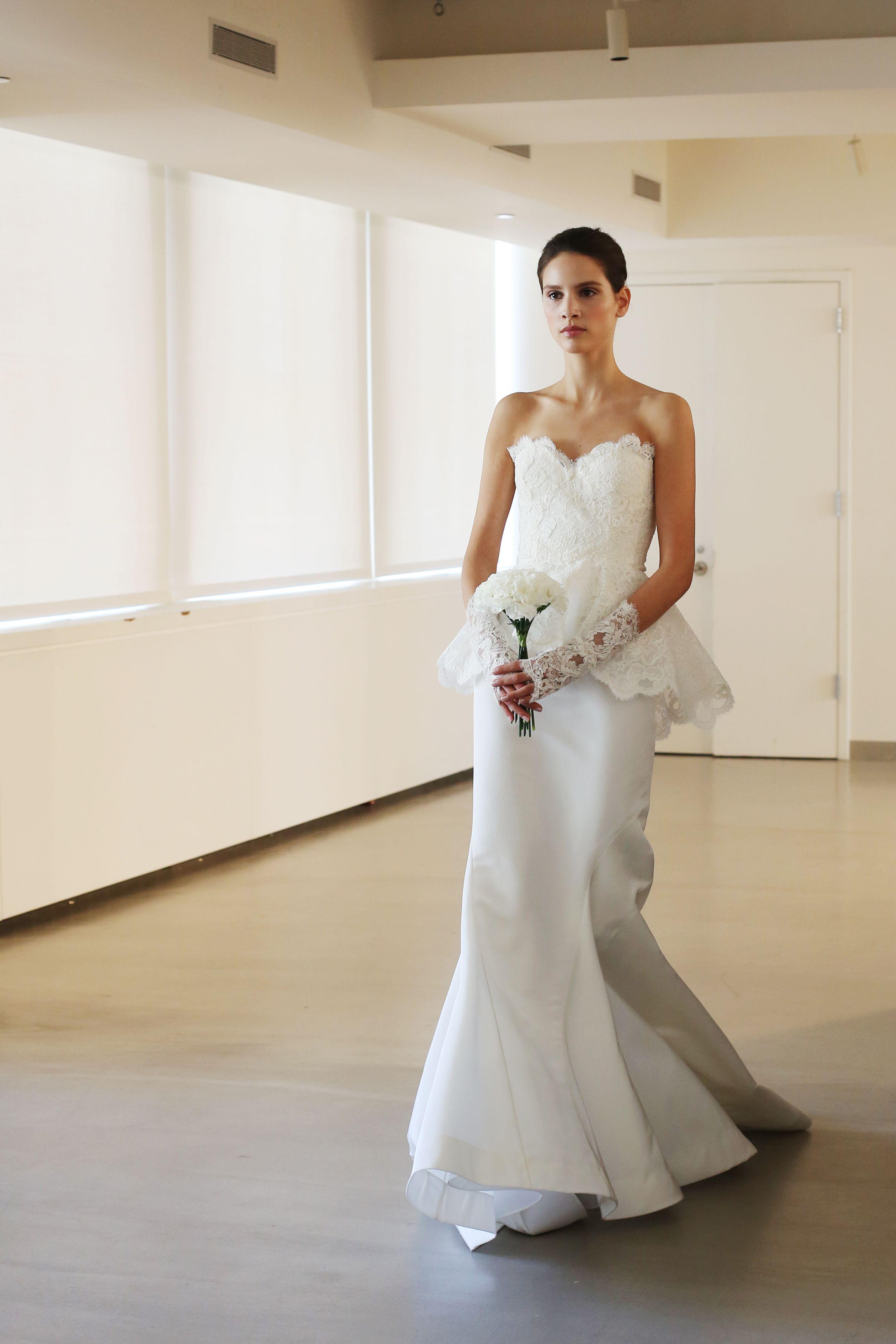 Woodland wedding dress  OSCAR DE LA RENTA BRIDAL   PHOTO BY Natasha S Jahangir