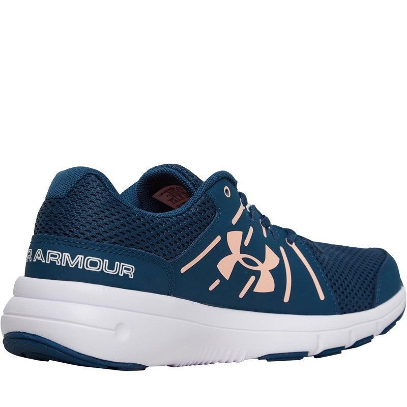 cheaper 0d8c5 c4a8a Under Armour Dash 2 Womens Girls Running Shoes Blue ...