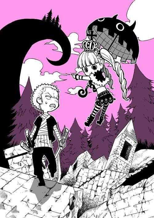 Perona and Zoro- Muggy Island