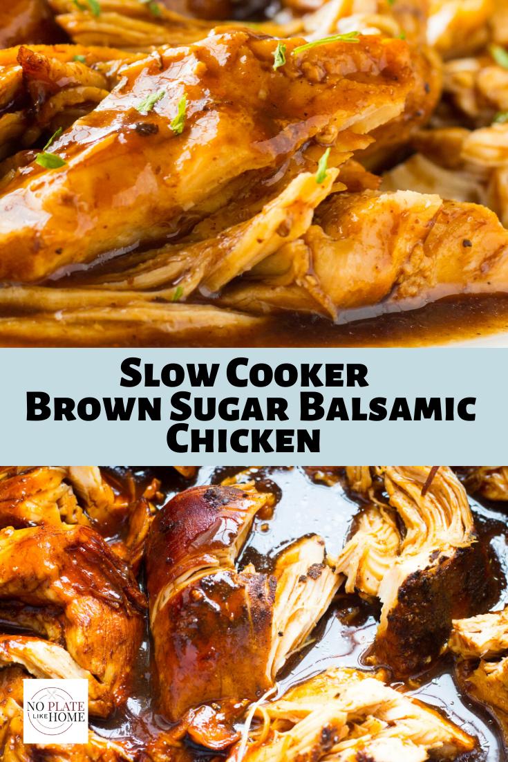 Slow Cooker Brown Sugar Balsamic Chicken