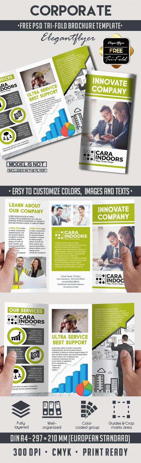 Corporate Free Psd Tri Fold Psd Brochure Template Pinterest