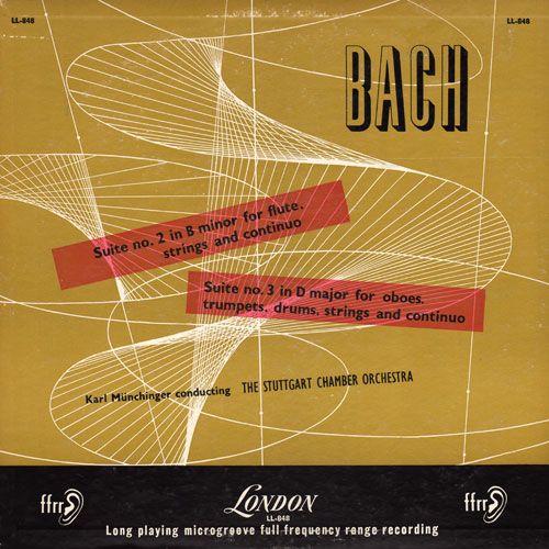 Bach Suite No. 2 in B Minor, vintage album cover