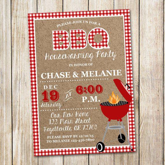 Housewarming Invitation BBQ New Home Printable