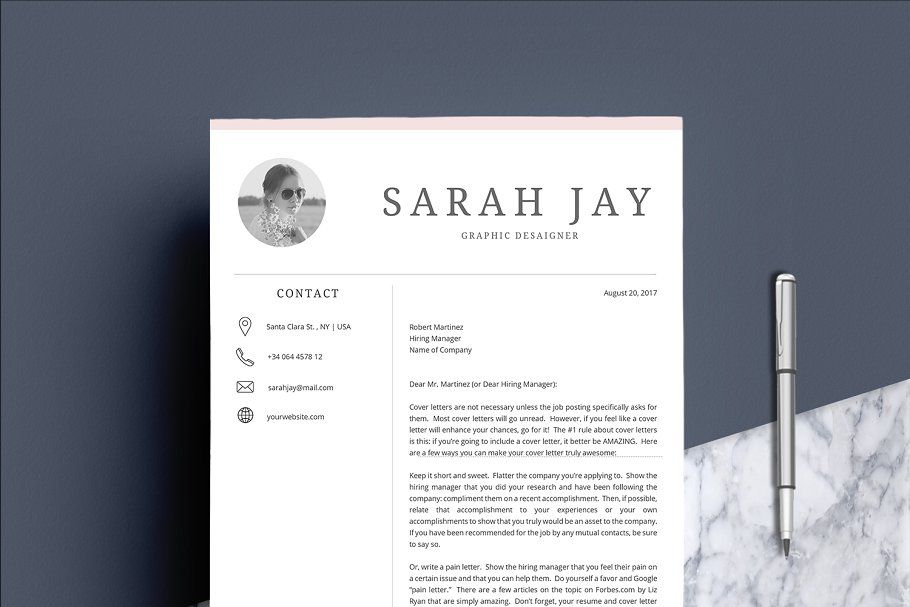 Resume Template 4 pages Clean #Template#Resume#pages#Templates