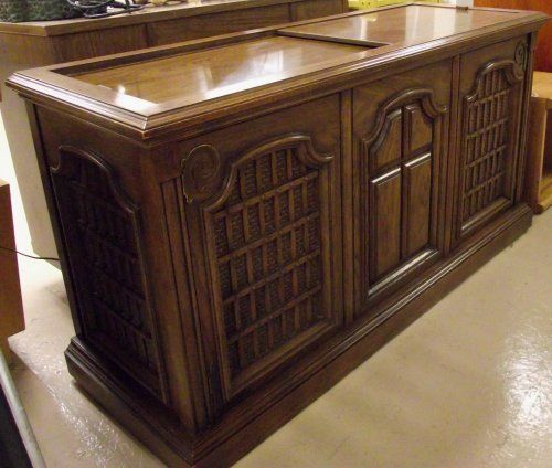 Vintage Phonograph Stereo Consoles | Console Stereo Cabinet w/Magnavox  Turntable u0026 AM/FM