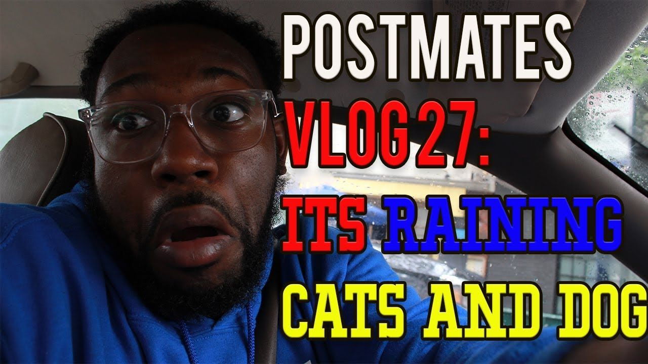 Postmates Vlogs 27 Its Raining Cats and Dogs! (With