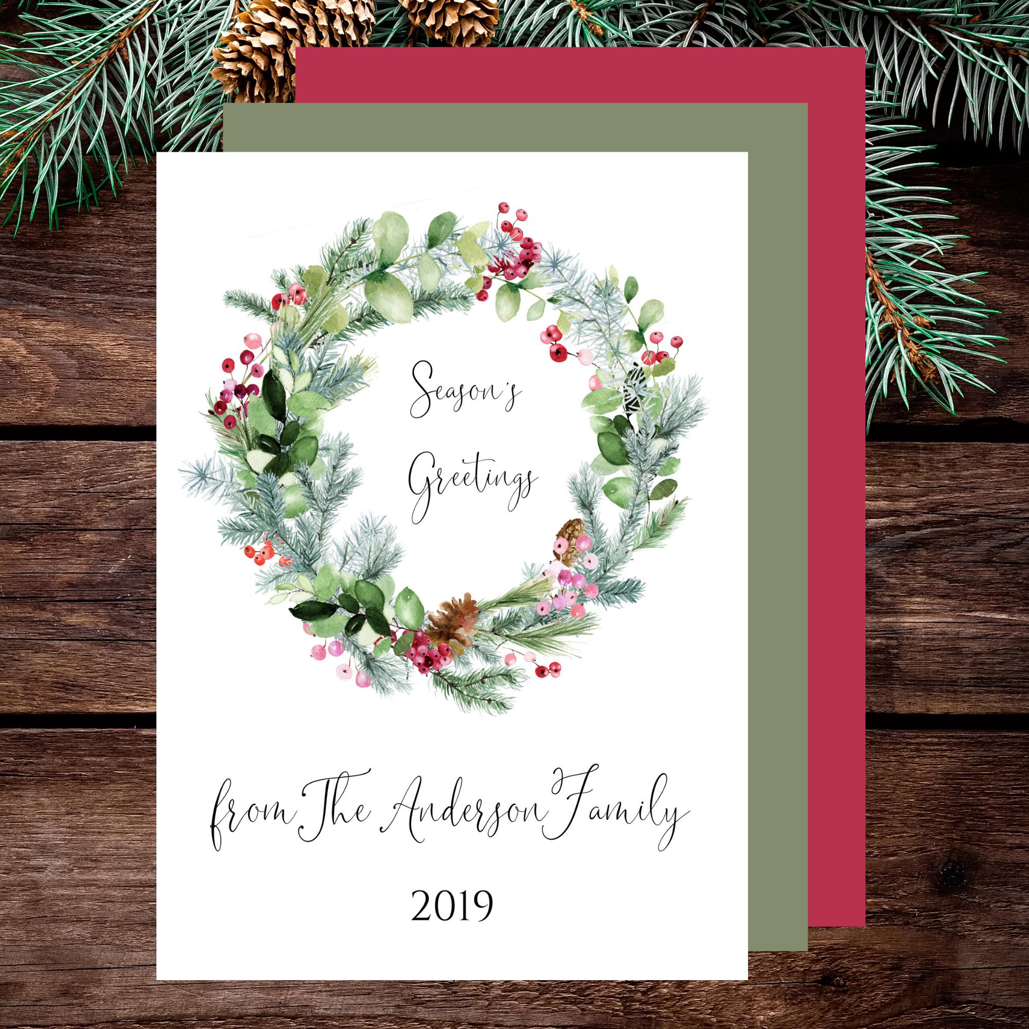 Christmas Card Template Editable With Canva 958172 Canva Templates Design Bundles Christmas Card Template Merry Christmas Card Christmas Cards