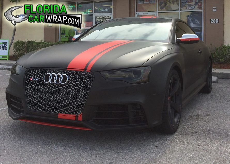 Here is another nice color change wrap on an Audi RS5 from Florida Car Wraps. http://floridacarwrap.com/  Material used: 3M 1080 Matte Black and Matte Red