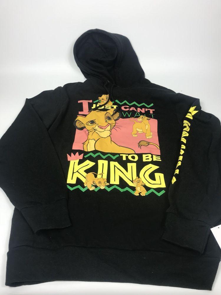2d48432aec8 Disney THE LION KING Mens Cant Wait to Be Simba Sweatshirt Hoodie Size  Large  Disney  Sweatshirt