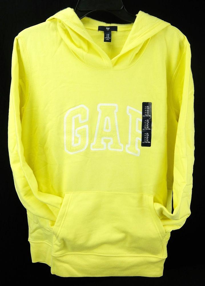 83cbb7f14 Womens Gap Hoodie Sweatshirt Light Weight Yellow PullOver Sizes XL XXL NWT   GAP  Hoodie