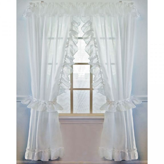 Jessica Sheer Ruffled Priscilla Curtain Priscilla Curtains