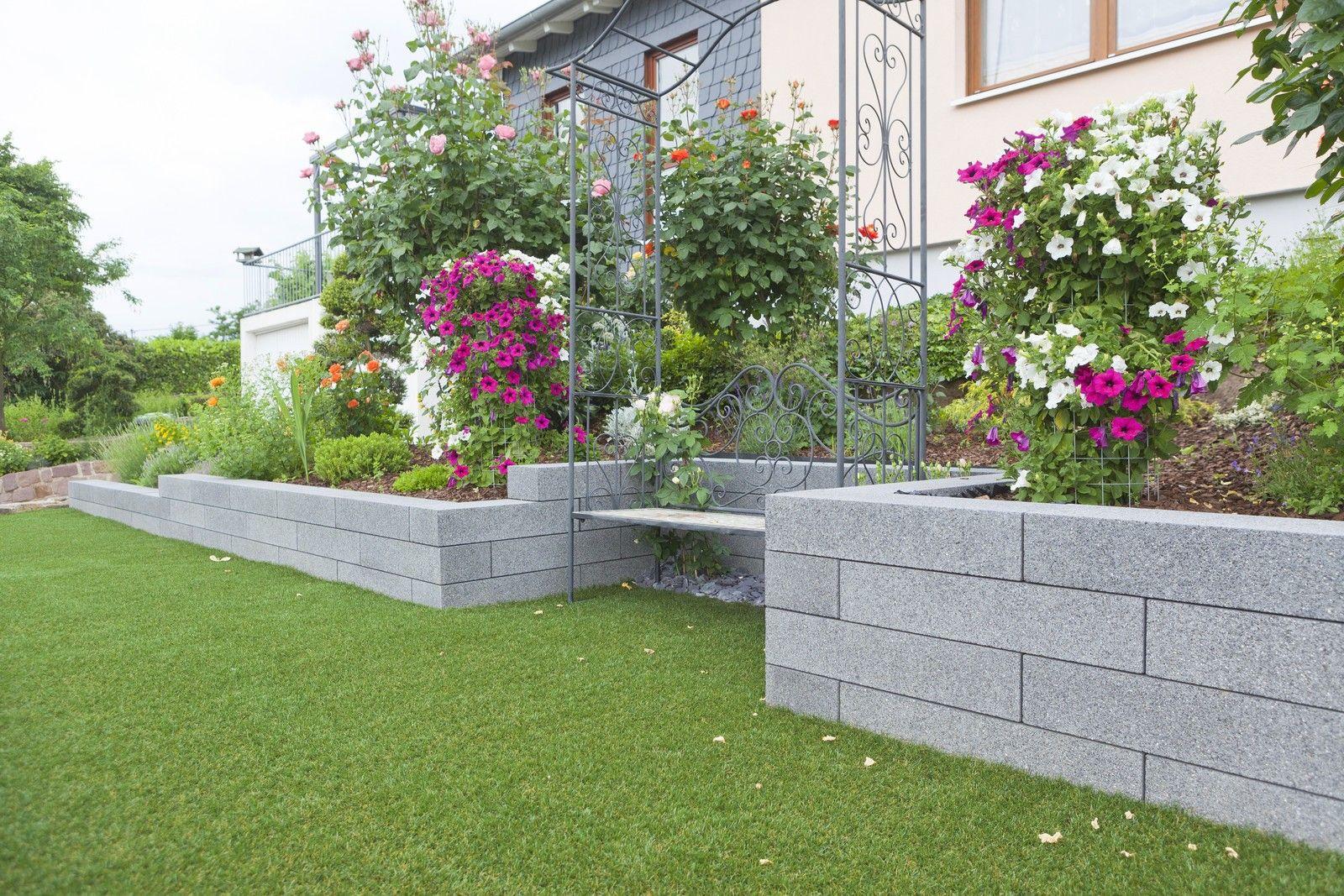 Scona Mauer Rinn Betonsteine Und Natursteine Garten Grundriss Betonsteine Gartenmauer Garten